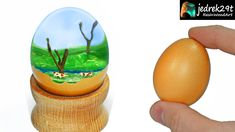 We make a diorama from real chicken eggs. Easter egg with cows in the meadow Chicken Eggs, Resin Art, Diorama, Easter Eggs, The Creator, Cows, Epoxy, How To Make, Youtube