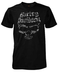 Harley-Davidson Men's Distressed Skull Shadows Short Sleeve T-Shirt, Black (2XL)