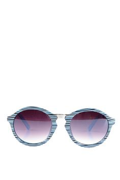 Blue Seeing Stripes Sunglasses #SFGirlGang