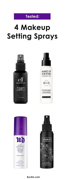 The best (and worst) of makeup setting sprays: