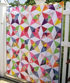 Maybe the boys need kaleidoscope quilts for their beds.