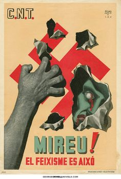 Spanish Anti-Fascist poster (1937) (no translation available)//FEB16