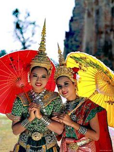 size: Photographic Print: Girls Dressed in Traditional Dancing Costume, Bangkok, Thailand by Steve Vidler : Travel Bangkok Tourist Spots, Bangkok Shopping, Bangkok Hotel, Bangkok Thailand, Thailand Travel, Thailand Fashion, Thailand Destinations, Holiday Destinations, Laos