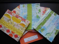 fabric cards by Jacquie G, via Flickr - love these!
