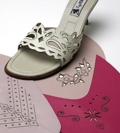 Look at these stylish shoes with the leather design cut by our Trotec Speedy 100 flexx laser machine!  Check out the link below for more fun stuff.  http://www.troteclaser.com/en-US/Materials/Pages/Leather.aspx  #Laser #LaserEngrave #Engraving  #LaserCut #LaserCutting #Leather #Shoes #Heels #WomensShoes #Fashion #Art