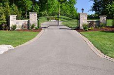 Gate to private estate