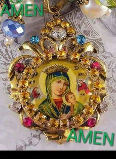 Our Lady of Succor. Religious Icons, Religious Jewelry, Mama Mary, Blessed Mother Mary, Mary And Jesus, Love Rose, Paper Frames, Sacred Art, Celestial