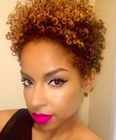 Every lady searching for the best haircut and color for her. This is one of the short curly hair for black ladies that is ideal for those people who are changing from prepared to natural hair since Short Curly Afro, Short Afro Hairstyles, Short Hair Cuts, Hairdos, Beauty By Lee, Curly Hair Styles, Natural Hair Styles, Tapered Natural Hair, Tapered Twa