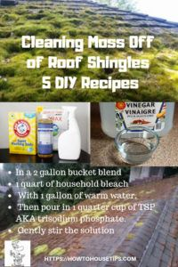 Cleaning Moss Off Of Roof Shingles 5 Diy Recipes Is Your Home Looking A Little Run Down From Green Moss On Your Diy Food Recipes Roof Cleaning Roof Shingles