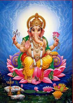 God Hindu Ganesh Ji Photo Frame - DivinePhotos, New Delhi Shri Ganesh Images, Ganesha Pictures, Lord Ganesha Paintings, Lord Shiva Painting, Ganesh Ji Photo, Arte Ganesha, Art Paintings, Watercolor Paintings, Painting Art
