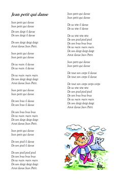 chanson jean petit qui danse Jeans Petite, French Education, Kids Poems, French Resources, Teaching French, Learn French, Preschool, Classroom, Songs