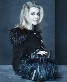 Marc Jacobs' Muse and Friend of the House Catherine Deneuve in the Louis Vuitton Spring/Summer 2014 Fashion Campaign, shot by Steven Meisel.