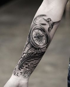 100 Awesome Compass Tattoo Designs