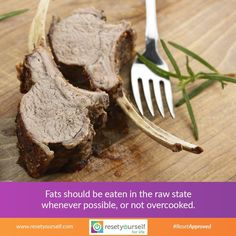 Most #fats are quite #damaged when cooked too long, and especially when #overcooked. Fats are high energy #foods, they have more than twice the energy content of sugars and starches. This is the reason why some people think that fats will make you fat. However, it is not so when one knows how to choose them properly, and when they are needed, as when a person has a fast oxidation rate. In fact, high-quality fats are one of the most #essentialfoods to consume everyday. #ResetApproved #fact