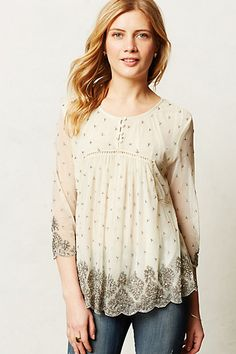 Mercury Beaded Peasant Blouse #anthropologie