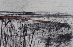 Contemporary landscape and seascape original art by JanineBaldwinArt Landscape Sketch, Pastel Landscape, Landscape Drawings, Contemporary Landscape, Abstract Landscape, Landscape Paintings, Sketchbook Drawings, Artist Sketchbook, Sketching