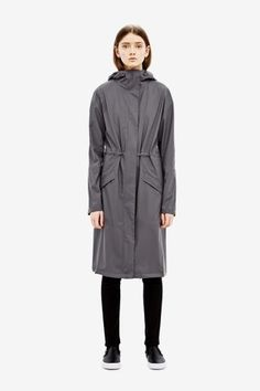 Rains Noon coat in smoke  - A great range of Rains Noon Coat In Smoke from Blue Saffron Walden , independent fashion boutique and home of elegant ladies wear.