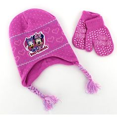 Minnie Mouse and Daisy Duck Toddler Hat with Mittens (Pink) Disney http   2529e4b08111