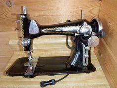Vintage Montgomery Wards Brunswick Sewing Machine Non Working Parts Restoration