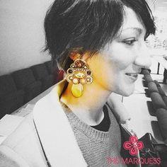 Beutiful golden hues.. @_elenalorusso_  #themarquessjewellery #handmade #madeinitaly #jewellery #costumejewellery #orecc...