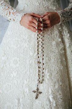 Terço de Noiva com foto dos Noivos 1032/FOTOPLAST - Branco - Jhs Católica