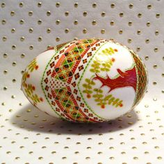 Pysanky Designs | Apple Tree Ukranian style etched pysanky Duck Egg by Twisted Poppy