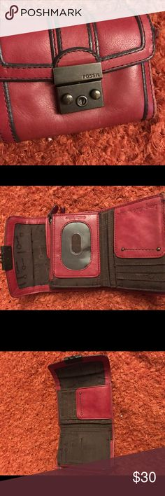 Fossil wallet Fossil: Long Live Vintage red wallet Bags Wallets
