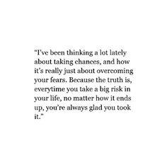Sometimes u just gotta take risks to live