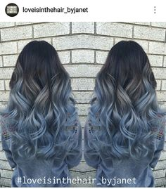 Blue Denim Hair Colors: Pastel Princess Balayage The most beautiful hair ideas, the most trend hairs Ombre Hair Color, Hair Color Balayage, Blue Ombre, Pastel Ombre Hair, Pastel Hair Colors, Lilac Hair, Green Hair, Haircolor, Onbre Hair