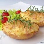 Patatas rellenas souffle