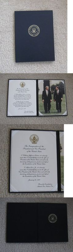 Bill Clinton: Bill Clinton/Al Gore Oath Of Office Vip Edition, Presentation Case, Authentic BUY IT NOW ONLY: $23.0