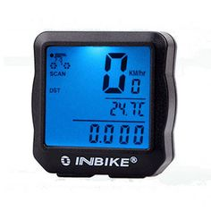 INBIKE Waterproof Bicycle Cycling Bike Computer Speedometer Odometer LCD Backlight Light