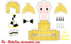 Rin Kagamine - Meltdown ver.2 [PAPERCRAFT] by RekaOpe