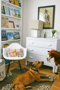 "Sneak Peek: Best of Dogs. ""Willa, a rescue from Brooklyn 12 years ago, now lives in Pound Ridge, NY. Here she is hanging out in five-year-old Serra's room."" #sneakpeek"