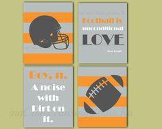 Boys Football room prints Football bedroom decor by Raising3Cains