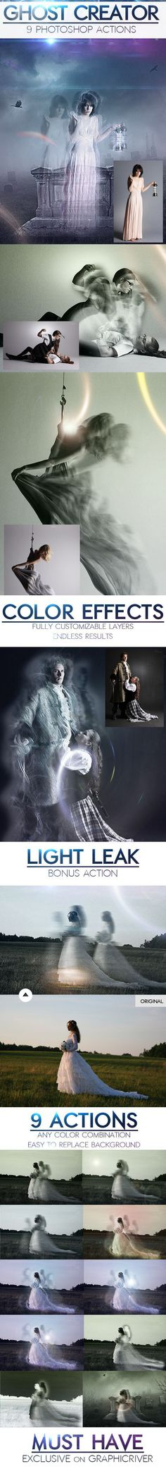 Turn a living, breathing person into a ghost and let this Photoshop action take the rap for it!  • Download ➝ https://graphicriver.net/item/ghost-creepy-photo-effects-photoshop-actions/9208601?ref=pxcr