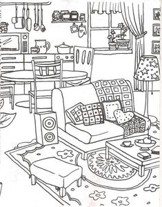 636 best colorir interiores images on coloring 636 best colorir interiores images on coloring Coloring Pages For Grown Ups, Coloring Book Pages, Coloring For Kids, Coloring Sheets, Buch Design, Illustrator, Free Printable Coloring Pages, Embroidery Patterns, Sketches