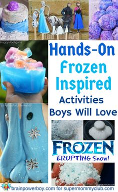9 Frozen Inspired Activities for Boys Frozen Activities, Sensory Activities, Craft Activities For Kids, Winter Activities, Crafts For Kids, Frozen Birthday Activities, Frozen Birthday Party Games, Learning Activities, Frozen Theme