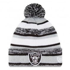 Oakland Raiders New Era NFL Sport Knit Beanie (Gray) Oakland Raiders Cap a6281cf91