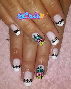 Mani Pedi, Manicure And Pedicure, Abstract Nail Art, Nail Spa, Black Nails, Nails Inspiration, Fun Nails, Nail Designs, Hand Painted