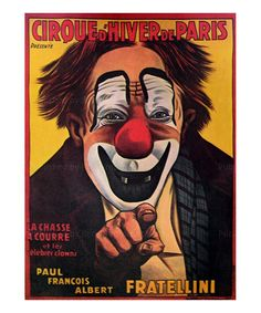 size: Giclee Print: Poster Advertising the 'Cirque D'Hiver De Paris', 1930 : Artists Vintage Circus Posters, Carnival Posters, Poster Art, Poster Prints, Art Prints, Graphic Posters, Graphic Illustrations, Canvas Prints, Bastille