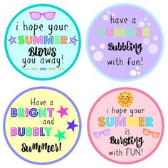 End of Year Gift for Students. This is such a cute and cheap idea. I love that these printables are all different!