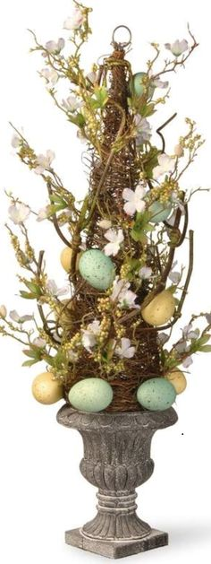 Easter Topiary | Easter Decor | Easter Table Decor | Easter Centerpiece | #ad #easter