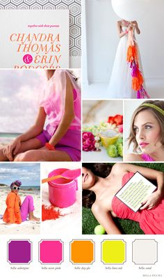 Unique and Bold color combinations for your wedding | Letterpress wedding invitation inspiration | Bella Figura