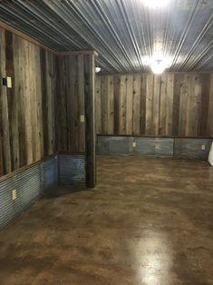 man cave basement Bedroom in Man Cave Bedroom in Man Cave Man Cave Basement, Rustic Basement, Man Cave Garage, Basement Stairs, Basement Ideas, Basement Plans, Future House, My House, Veranda Design