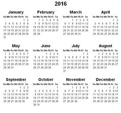 49 Best Calendar 2016 Images On Pinterest Printable Calendar