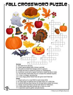 Fall Crossword Puzzle Printable | Woo! Jr. Kids Activities : Children's Publishing