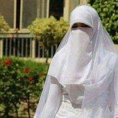 Beautiful pious Niqabi bride