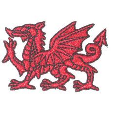 Iron On Patch Applique - Welsh Dragon