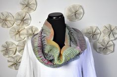Carla  handwoven textile magnetic scarf in shades of by amberkane, $200.00